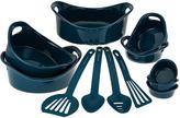 Rachael Ray Marine Blue 12-Piece Round Bakeware Set