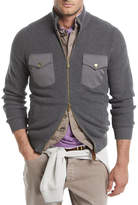 Brunello Cucinelli Ribbed Two-Way Zip-Front Cardigan