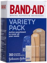 Safety First Band-Aid Variety Pack Adhesive Bandages-30ct, Assorted Sizes