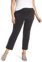 Sejour Plus Size Women's Velvet Ankle Pants