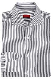 Isaia Men's Striped Cotton Dress Shirt - Navy