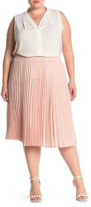 T Tahari Pleated Pull-On Skirt (Plus Size)
