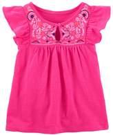 Osh Kosh Girls 4-12 Pink Embroidered Top
