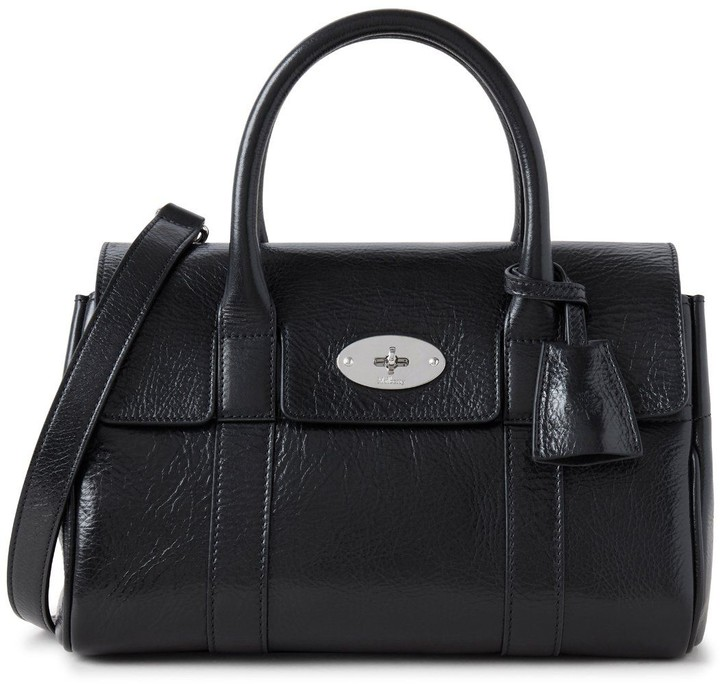 Mulberry Soft Small Bayswater Black High Shine Calf Leather