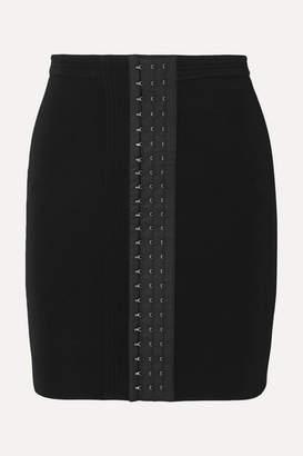 Thierry Mugler Stretch-crepe Mini Skirt - Black