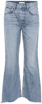 GRLFRND Dahl cropped high-rise flared jeans