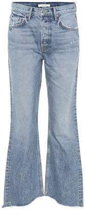 GRLFRND Dahl cropped high-rise flared jeans