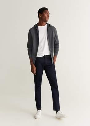 MANGO Zip hooded cardigan