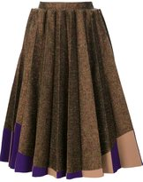 DELPOZO pleated midi skirt - women - Silk/Cotton/Polyester/Viscose - 38