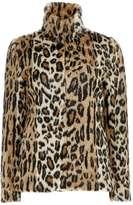 Petite Leopard Fur Coat