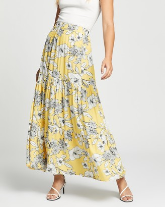 Atmos & Here Atmos&Here - Women's Yellow Midi Skirts - Jayne Skirt - Size 8 at The Iconic