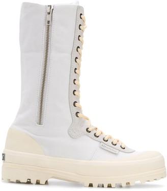 Superga x Paura zipped combat boots