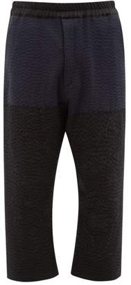 By Walid Marek Manillar Embroidered Panel Trousers - Mens - Black