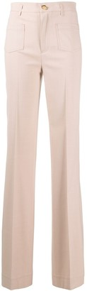 RED Valentino High-Waisted Flared Trousers