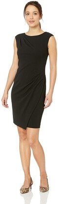 Calvin Klein Women's Cap Sleeve Dress with Front Overlay