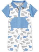 First Impressions Whale-Print Romper, Baby Boys (0-24 months)