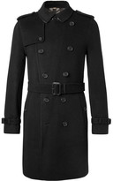 Burberry Cashmere And Virgin Wool-blend Trench Coat - Black