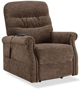 Red Barrel Studioâ® nthimos Power Recliner with Massage with Heating Red Barrel StudioA Fabric: Brown