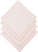Los Encajeros Set-Of-Four Pink Linen Napkins