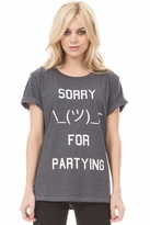 Local Celebrity Sorry for Partying Schiffer Tee in Black
