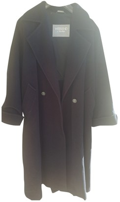 Max Mara Weekend Blue Wool Coat for Women Vintage
