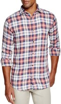 Eleventy Plaid Regular Fit Button Down Shirt