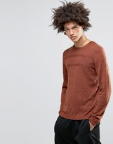 Asos Merino Mix Jumper With Textured Stitch