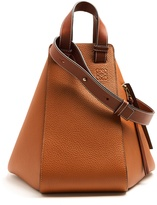 Loewe Hammock large grained-leather tote