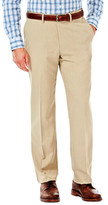 Haggar eCLoTM Stria Dress Pant - Straight Fit, Flat Front, Hidden Expandable Waistband
