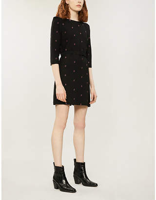 Claudie Pierlot Paisley embroidered crepe dress