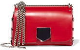 Jimmy Choo Lockett Small Leather Shoulder Bag - Red