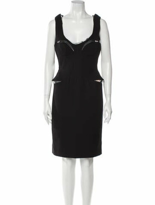 Versace Out Of This World Knee-Length Dress w/ Tags Black