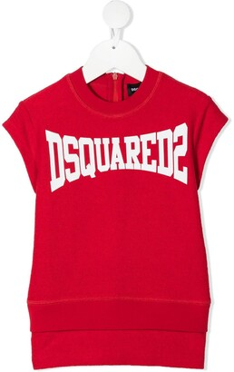 DSQUARED2 logo-print T-shirt dress
