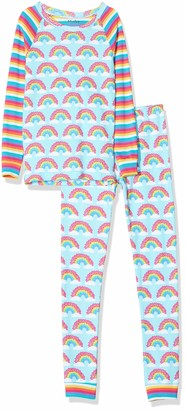 Hatley Girl's Organic Cotton Long Sleeve Printed Pyjama Sets