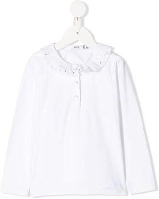 Knot Atlanna ruffled polo shirt