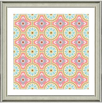 Vintage Print Gallery Exotic Opulent Tiles Vii Framed Graphic Art