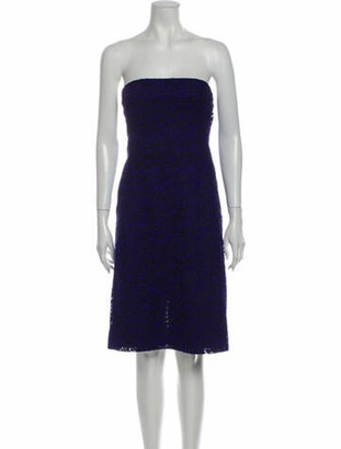 J. Mendel Strapless Mini Dress Blue
