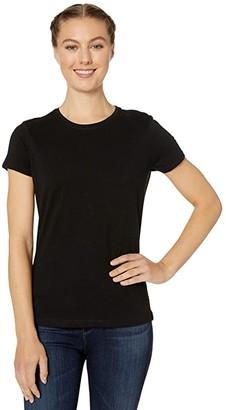 Pact Organic Cotton Featherweight Crew Neck Tee (Black) Women's Clothing