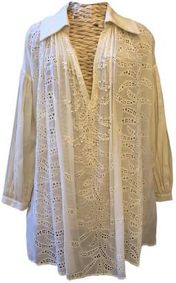 Anna Molinari Beige Cotton Dress for Women Vintage