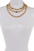 House Of Harlow Multi-Layer Beaded Rolo Chain Necklace