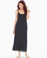 Soma Intimates Lace Cutout Tea Length Nightgown Black