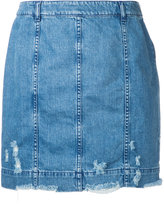 Public School Edgar denim Skirt - women - Cotton/Spandex/Elastane - S