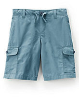 Classic Boys Pull-On Beach Cargo Shorts-Navy Border