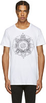 Balmain White New Logo T-Shirt