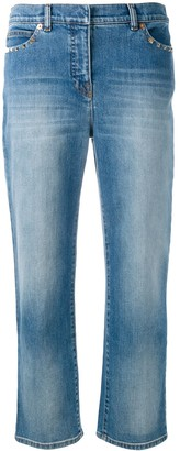 Valentino Rockstud cropped jeans