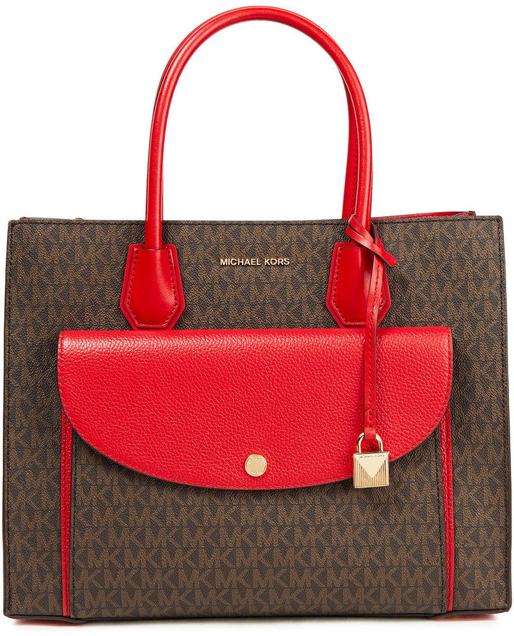 MICHAEL Michael Kors Two-tone Printed Faux Leather Tote