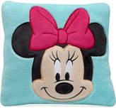 Disney Minnie Mouse Hello Gorgeous Embroidered Applique Plush Decorative Pillow Bedding