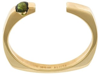 ALIITA 9kt Yellow Gold Tourmaline Open Ring