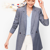 Talbots Double Breasted Linen Blazer