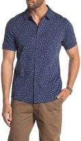 Raffi Short Sleeve Button Front Floral Print Shirt